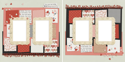 Today And Tomorrows - Digital Scrapbook Pages - INSTANT DOWNLOAD - EZscrapbooks Scrapbook Layouts Love - Valentine, Other