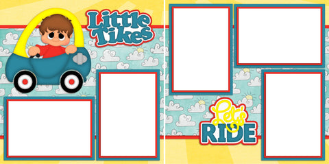 Little Tykes Boy - Digital Scrapbook Pages - INSTANT DOWNLOAD