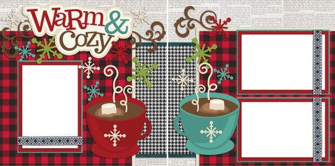 Warm & Cozy - Digital Scrapbook Pages - INSTANT DOWNLOAD