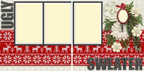 Ugly Sweater Party -639 - EZscrapbooks Scrapbook Layouts Christmas