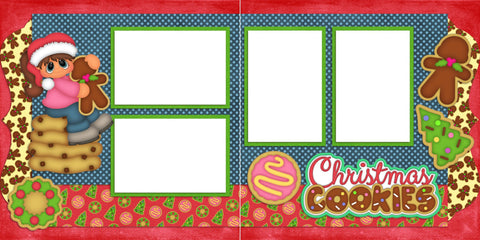 Christmas Cookies Girl - Digital Scrapbook Pages - INSTANT DOWNLOAD