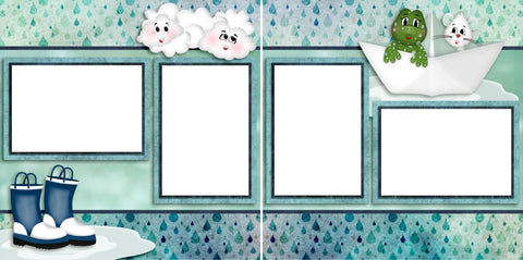 Raindrops - Digital Scrapbook Pages - INSTANT DOWNLOAD - 2019