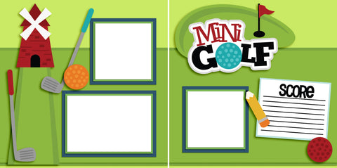 Mini Golf - Digital Scrapbook Pages - INSTANT DOWNLOAD