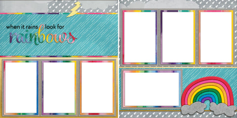 Rainbows - Digital Scrapbook Pages - INSTANT DOWNLOAD - EZscrapbooks Scrapbook Layouts Other, Spring - Easter