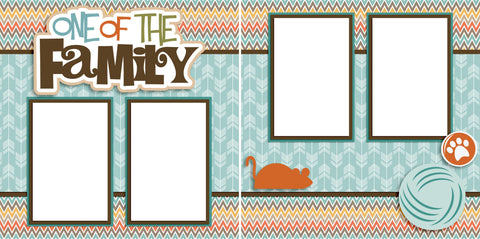 One of the Family Cat - Digital Scrapbook Pages - INSTANT DOWNLOAD