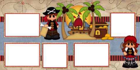 Pirate Kids - Digital Scrapbook Pages - INSTANT DOWNLOAD