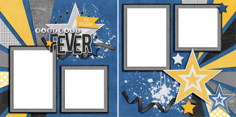 Baseball Fever - Digital Scrapbook Pages - INSTANT DOWNLOAD