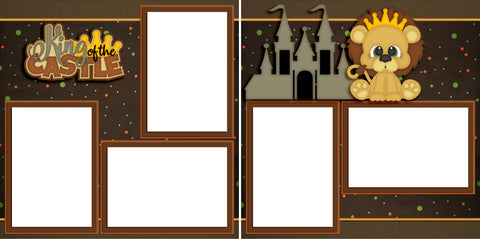 King of the Castle - Digital Scrapbook Pages - INSTANT DOWNLOAD - EZscrapbooks Scrapbook Layouts Baby - Toddler