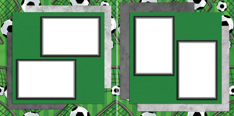 Soccer Life - Digital Scrapbook Pages - INSTANT DOWNLOAD - EZscrapbooks Scrapbook Layouts soccer, soccer ball, sports