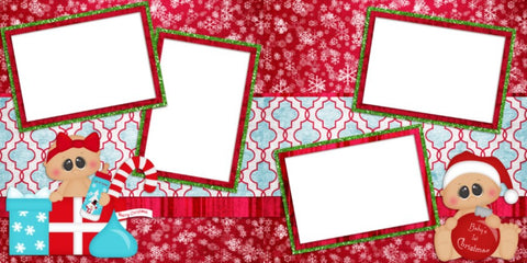 Baby Christmas - Digital Scrapbook Pages - INSTANT DOWNLOAD
