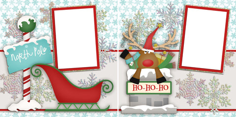 North Pole Christmas - Digital Scrapbook Pages - INSTANT DOWNLOAD - EZscrapbooks Scrapbook Layouts Christmas