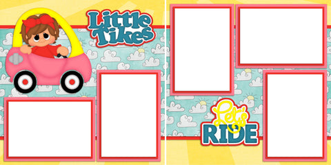 Little Tykes Girl - Digital Scrapbook Pages - INSTANT DOWNLOAD