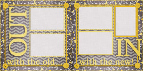 Out With the Old - Digital Scrapbook Pages - INSTANT DOWNLOAD