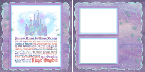 Magic Kingdom Phrases - Digital Scrapbook Pages - INSTANT DOWNLOAD