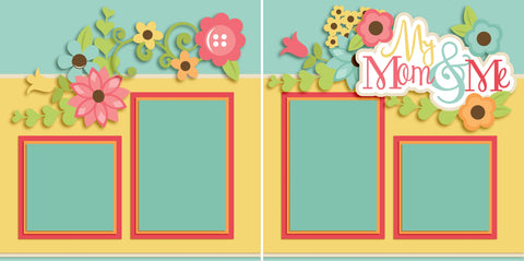 My Mom and Me Girl - 2564 - EZscrapbooks Scrapbook Layouts Family