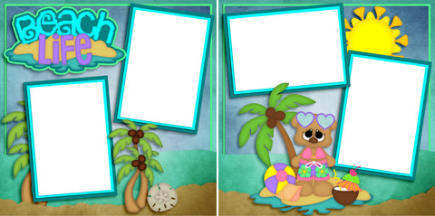 Beach Life Girl - Digital Scrapbook Pages - INSTANT DOWNLOAD