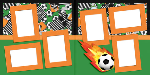Soccer Star - Digital Scrapbook Pages - INSTANT DOWNLOAD - EZscrapbooks Scrapbook Layouts soccer, soccer ball, sports
