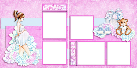 Expecting - Digital Scrapbook Pages - INSTANT DOWNLOAD
