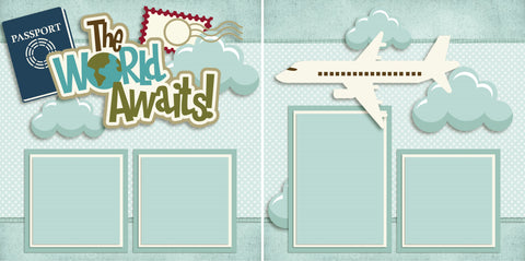 The World Awaits - 2548 - EZscrapbooks Scrapbook Layouts Vacation