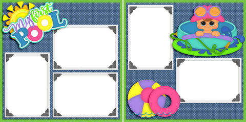 First Pool - Digital Scrapbook Pages - INSTANT DOWNLOAD