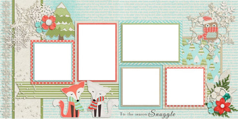 Snuggle Season- Digital Scrapbook Pages - INSTANT DOWNLOAD - EZscrapbooks Scrapbook Layouts Christmas, Winter