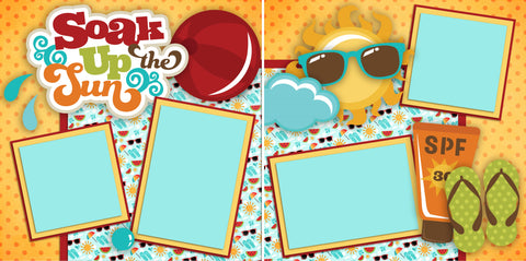Soak up the Sun - 2322 - EZscrapbooks Scrapbook Layouts Beach - Tropical, Swimming - Pool