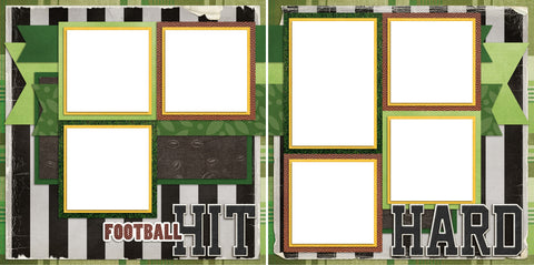 Hit Hard - Digital Scrapbook Pages - INSTANT DOWNLOAD - EZscrapbooks Scrapbook Layouts Sports