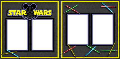 Star Wars - Digital Scrapbook Pages - INSTANT DOWNLOAD