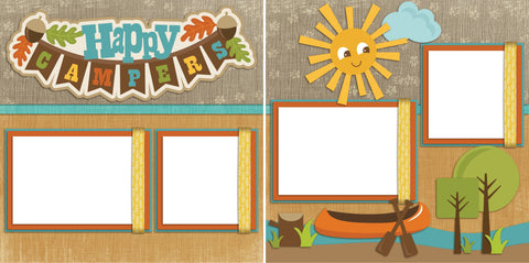 Happy Campers - Digital Scrapbook Pages - INSTANT DOWNLOAD