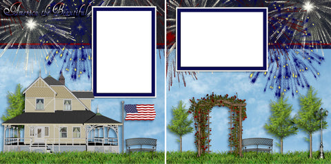 America the Beautiful - Digital Scrapbook Pages - INSTANT DOWNLOAD