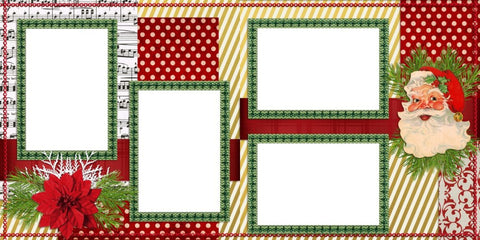 Santa - Digital Scrapbook Pages - INSTANT DOWNLOAD