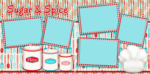 Sugar & Spice - 2399 - EZscrapbooks Scrapbook Layouts Christmas, Foods