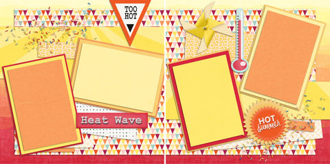 Heat Wave - 2126 - EZscrapbooks Scrapbook Layouts Beach - Tropical, retired, Seasons, Sports, Summer, Vacation