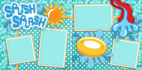 Splish Splash - 2324 - EZscrapbooks Scrapbook Layouts Beach - Tropical, Swimming - Pool