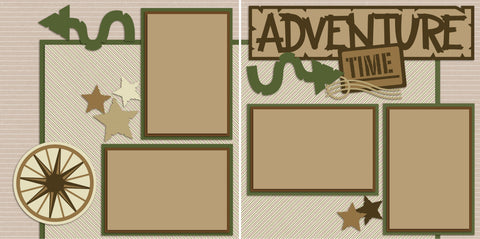 Adventure Time - 2240 - EZscrapbooks Scrapbook Layouts Camping - Hiking, Hunting - Fishing