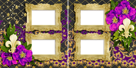 Mardi Gras Mambo - Digital Scrapbook Pages - INSTANT DOWNLOAD