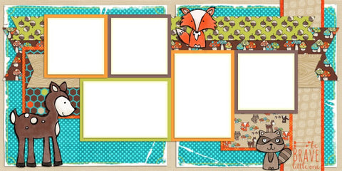 Forest Friends - Digital Scrapbook Pages - INSTANT DOWNLOAD