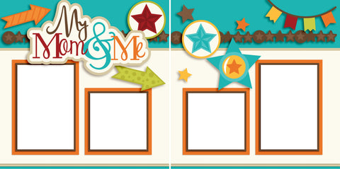Mom and Me Boy - Digital Scrapbook Pages - INSTANT DOWNLOAD