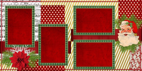 Santa - 638 - EZscrapbooks Scrapbook Layouts Christmas