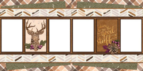The Buck - Digital Scrapbook Pages - INSTANT DOWNLOAD - EZscrapbooks Scrapbook Layouts Hunting - Fishing