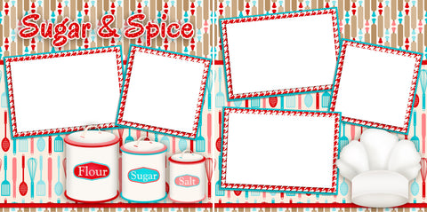 Sugar and Spice - Digital Scrapbook Pages - INSTANT DOWNLOAD - EZscrapbooks Scrapbook Layouts Christmas, Foods