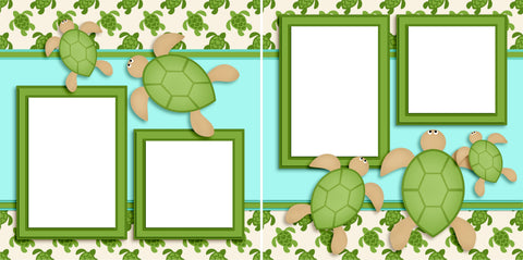 Sea Turtles - Digital Scrapbook Pages - INSTANT DOWNLOAD