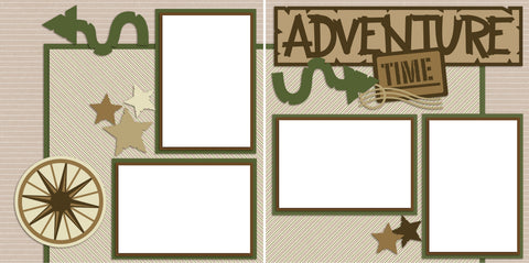Adventure Time - Digital Scrapbook Pages - INSTANT DOWNLOAD