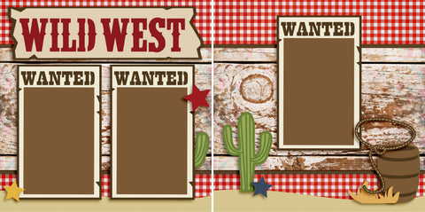 Wild West - 2550 - EZscrapbooks Scrapbook Layouts Western - Cowboy