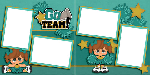 Cheer - Go Team - Digital Scrapbook Pages - INSTANT DOWNLOAD