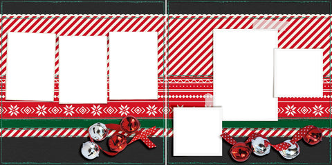 Jingle Bells - Digital Scrapbook Pages - INSTANT DOWNLOAD - EZscrapbooks Scrapbook Layouts Christmas, holidays, santa