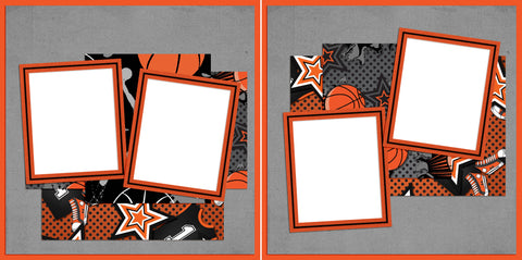 Basketball Dreams - Digital Scrapbook Pages - INSTANT DOWNLOAD - EZscrapbooks Scrapbook Layouts basketball, sports