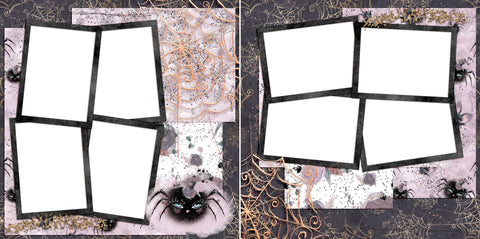 Miss Spider - Digital Scrapbook Pages - INSTANT DOWNLOAD - EZscrapbooks Scrapbook Layouts boo, halloween, spider, spooky