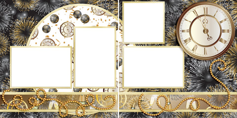 New Year's Celebration - Digital Scrapbook Pages - INSTANT DOWNLOAD