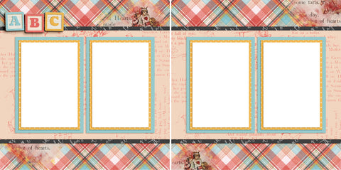 Baby Blocks - Digital Scrapbook Pages - INSTANT DOWNLOAD - 2019